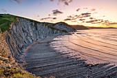Itxaspe, Gipuzkoa, Basque Country, Spain. Playa Sakoneta