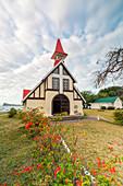 The Notre Dame Auxiliatrice church, Cap Malheureux, Riviere du Rempart, Mauritius, Africa