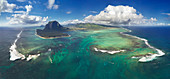 the famous Underwater Waterfall at Le Morne in the south coast, Unesco World Heritage Site, Mauritius, Indian Ocean, Africa