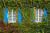 Brittany, France, Saint-Thégonnec. Brittany architectural details, windows Saint-Thégonnec village