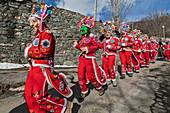 Aosta valley, Allein, Italy. Alpine carnival Coumba Freida\n