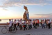 Italy, Venetia, Venice, listed as World Heritage by UNESCO, island of Pellestrina, San-Pietro-in-Volta, pilgrimage