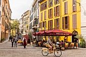 Italy, Lombardy, Milan, restaurant street via Marco Formentini