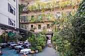 Italy, Lombardy, Milan, restaurant and rooms of the 10 Corso Como Cafe place corso Como