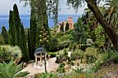 Italy, Ventimiglia, Cap Mortola near Menton in France, Villa Hanbury gardens (Giardini botanici Hanbury)