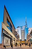 Italy, Lombardy, Milan, Porta Nuova, the new business district built between 2009 and 2015 by architects as Cesar Pelli, Stefano Boeri, Nicholas Grimshaw