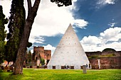 Italy, Latium, Rome, Testaccio Neighbourhood, Piramide area, Non Catholic Cementery of Rome