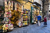 Italy, Campania region, Naples, Historic Centre listed by UNESCO as a World Heritage Site, Spaccanapoli district, via Benedetto Croce, specialties from Naples