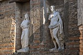 Italy, Campania region, archeological site of Pompeii listed by UNESCO as a World Heritage Site, ancient city of the Roman Empire destroyed by the eruption of Mount Vesuvius in AD 79, the Forum, macellum