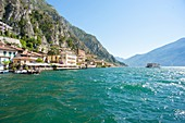 Italy, Lombardy, Lago di Garda, Limone Sul Garda, mediterranean climate and lemon culture