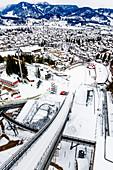 Training area for ski jumpers in Oberstdorf, Allgäu, Germany