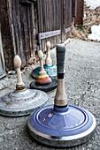 Curling stones, Himmelberg, Carinthia, Austria