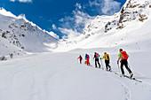Ski tour go to Pflerschtal, South Tyrol, Italy