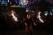 Fire Eater, Wroclaw, Poland, Europe