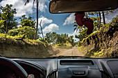Drive to Yasur volcano on Tanna, Vanuatu, South Pacific, Oceania