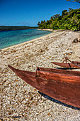 Lonely beach in front of Efate, Vanuatu, South Pacific, Oceania
