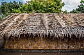 Straw hut covered with palm fronds, Malekula, Vanuatu, South Pacific, Oceania