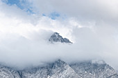 View of the Zugspitze massif, Grainau, Bavaria, Germany, Europe