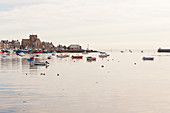 Morning mood in the port of Barfleur, Normandy, France. Barfleur is one of the most beautiful villages in France.