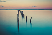 Sunset at Broken Jetty in Bridport, Tasmania