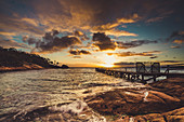 Sunset at Freycinet Lodge Jetty, Freycinet National Park, Tasmania