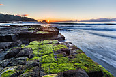 Sunrise at Tessalated Pavement at Eagle Hawk Neck, Tasmania