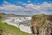 Gullfoss waterfall lower tier, Suðurland, Iceland