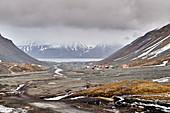 Summer in Longyearbyen, Svalbard, Norway