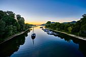 Sonnenuntergang am Rhein, Bad Honnef, NRW, Deutschland