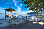 Bregenz harbor with a view of Lake Constance. Bregenz, Austria
