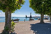 Konstanz Hafen mit Imperia Statue, Konstanz, Baden-Württemberg, Deutschland