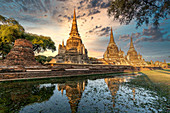 Wat Phra Sri Sanphet, Ayutthaya Historical Park, Koenigspalast, UNESCO Weltkulturerbe, Ayutthaya, Thailand,
