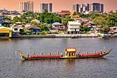 Royal barge on the Chao Phraya River in Bangkok, Thailand