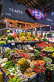 Boqueria market in Barcelona, fruits and vegetables, Spain