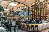 Interior of the El Nacional restaurant in Barcelona, Catalonia