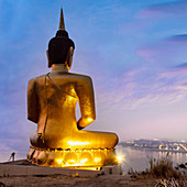 Golden Buddha, Wat Pho Salao, Pakse, Laos, Indochina, Asia