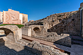 Circ Roma, Roman ruins of the Roman Circus, Tarragona, Catalonia, Spain