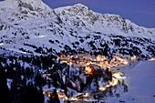 Abendlicher Blick auf Obertauern, Salzburger Land, Österreich
