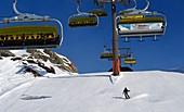 Skigebiet Obertauern, Salzburger Land, Österreich