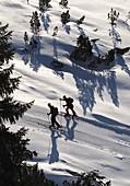 Ski tourers in the Obertauern ski area, snow, pass, winter in Salzburg, Austria
