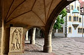 in the Moritzburg, Halle an der Saale, inner courtyard, Middle Ages, Saxony-Anhalt, Germany
