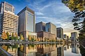 Japan ,Tokyo City, Marunouchi District skyline
