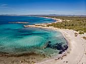 Es Perengons Petits beach, Es Trenc, Campos, Mallorca, Balearic Islands, Spain