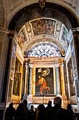 Capilla Contarelli, paintings  made by the baroque master Caravaggio, San Luigi dei Francesi church, Roma, Lazio, Italia