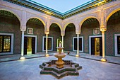 Courtyard. Museum. Tozeur city. Tunisia, Africa.