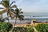 Beach at the African Village Hotel, Bakau, Gambia, West Africa