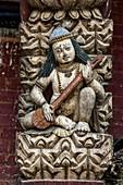 Statues at Changu Narayan Temple in Kathmandu Valley, Nepal
