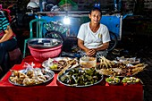 A Street Food Stall At Gianyar Night Market, Bali, Indonesia.