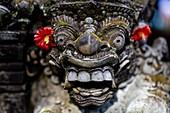 Stone Statues At The Ubud Palace, Ubud, Bali, Indonesia.