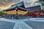 Kyoto Japan. Yasaka shrine temple at sunset